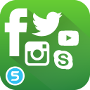 Plugin Icon Social Media Buttons / Icons für Shopware
